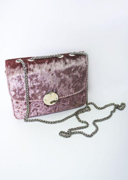 Umschlagtasche aus Samt, rosa