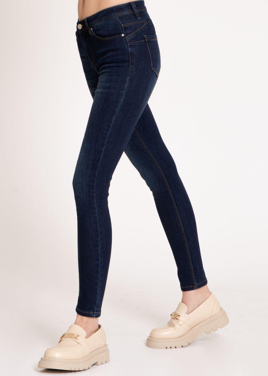 Push-Up Jeans, dunkelblau