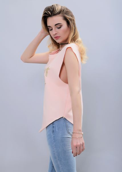 Oversize Top, lachs