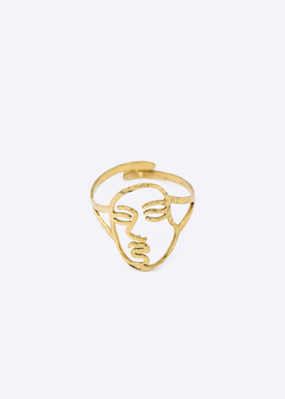 """Ring """"FACE"""", gold"""