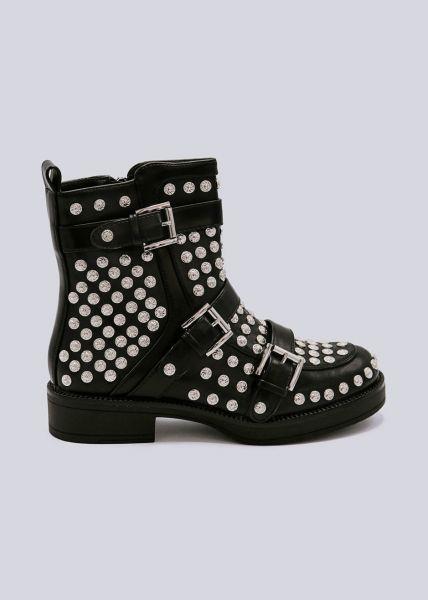 Nieten-Boots, schwarz