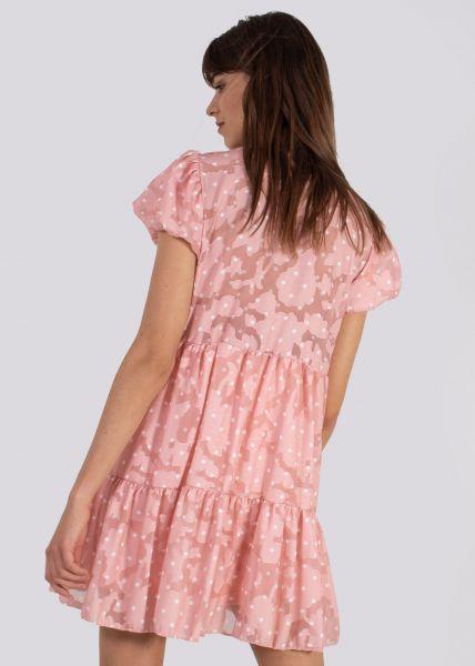 Hängerchenkleid mit Tupfen-Print, rosa