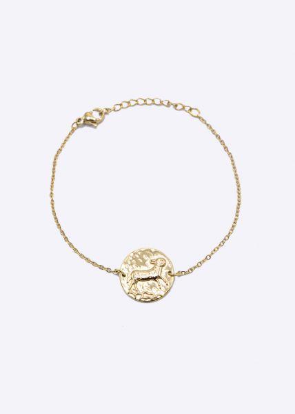 Armkette mit Sternzeichen Widder, gold