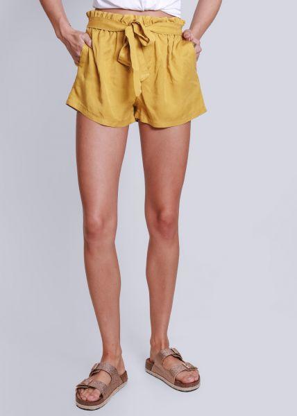 Shorts mit Bindeband, gelb
