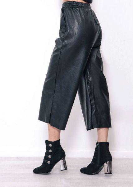 Leder-Culotte, schwarz