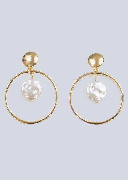 Creolen mit Perlen, gold