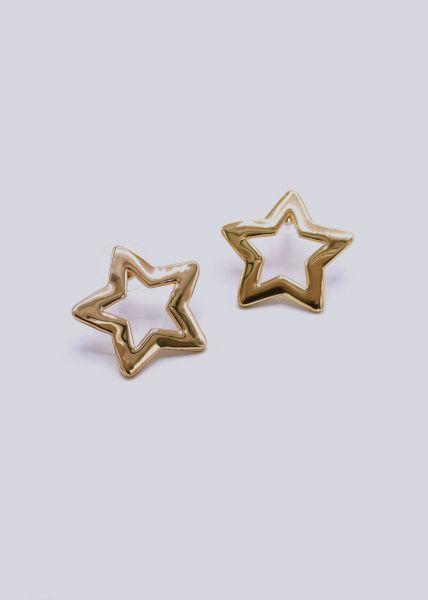 Stern-Ohrstecker, gold