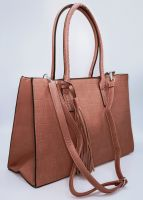 XL-Tasche in Krokomuster, rosa