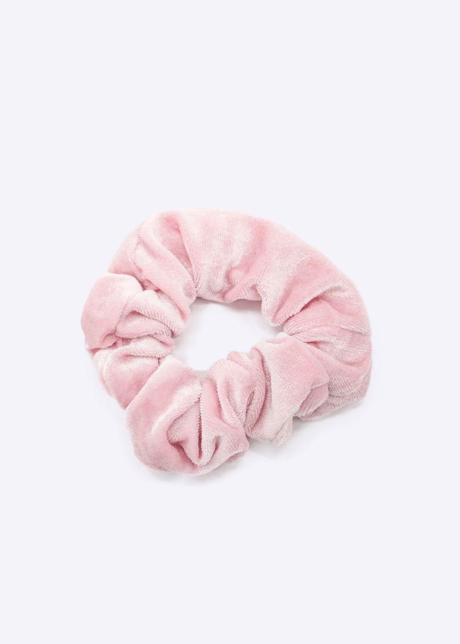 Scrunchie mit Reißverschlussfach, rosa