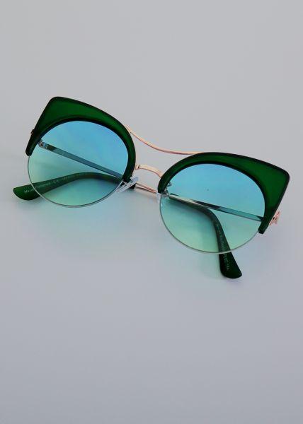 Sonnenbrille, grün