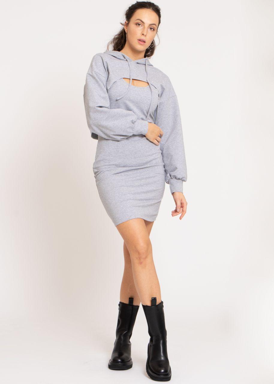 2-teiliges Lounge-Dress, grau