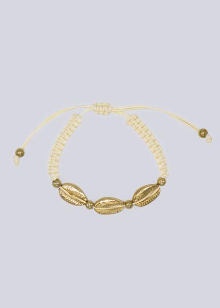 Muschel-Armband, beige