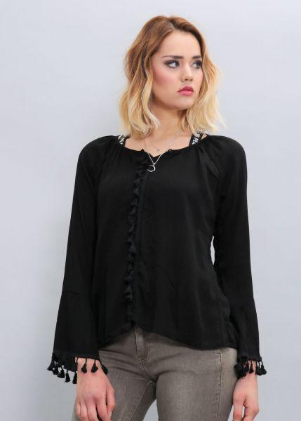 Tunika-Bluse, schwarz