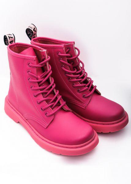 Leder-Boots, pink