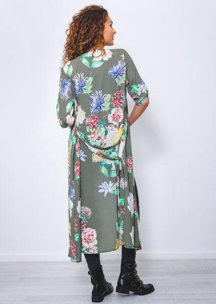 Kimono mit Print, khaki