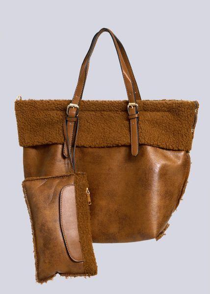 Shopper mit kleiner zusätzlichen Tasche, camel